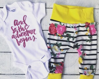 Newborn Outfit / Going Home Outfit / And So The Adventure Begins