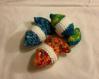 Catnip Fish, Crocheted Catnip Fish, 100% Handmade, Organic Catnip