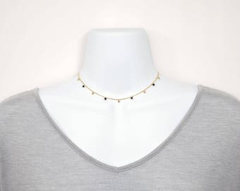 Gold Filled Beads and Stone Shaker Choker