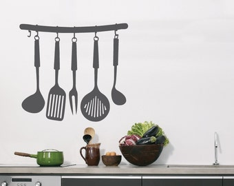 Cooking Utensils  - Wall or Window Decal