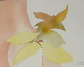 """FALL  SALE : Zen Impressions """" A Sigh of Jubilation""""  one of a kind, original watercolor"""