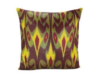Ikat Pillow, Handmade Ikat Pillow Cover  IP134 (S204), Ikat throw pillows, Designer pillows, Decorative pillows, Accent pillows