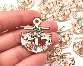 HOPE Anchor Hebrews 6:19 Gold Soft ENAMEL PIN - Christian Faith Accessories Lapel Pin