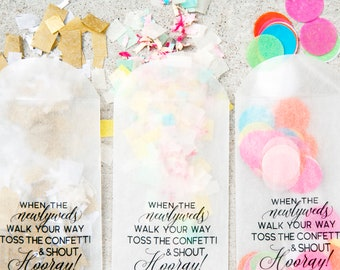 Glassine Envelope Toss Bags - DIY Wedding Exit - Toss Hooray - Confetti Toss - Pack of 20