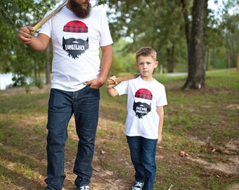 Daddy and son, Father Son Shirts, Dad and Baby Matching Tshirts, Lumberjack Shirts - Father Son Matching Shirts - Vader Zoon Shirts,
