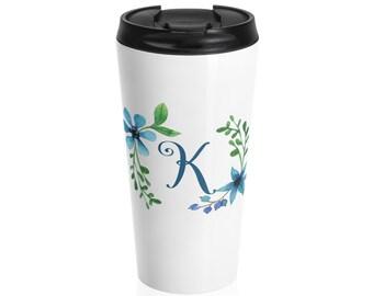 Personalized Travel Mug, custom name mug, travel mug, mug with name, stainless steel, calligraphy