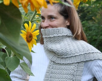Scarf Pattern - Crochet Pattern, DIY Christmas Gift, Womens Scarf Pattern, Easy Crochet Scarf - Winter Path Scarf P141