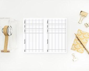 Checkbook Register Traveler's Notebook Insert – Pocket size - financial - money tracker - finances