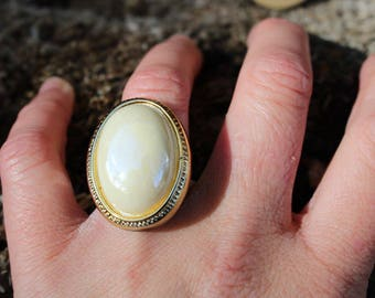 Ring made of recycled jewelry, adjustable, vintage look