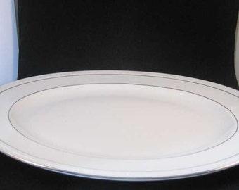 "Noritake Stoneleigh Porcelain Oval Serving Platter 16"" Pattern #4062"