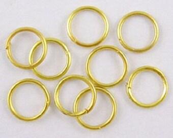 lot de 50 anneaux de jonction simple ouvert, doré 6mm