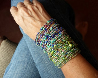 Landscape Super Stack Bracelet Set - Gorgeous Landscape Colors - Set of 4 - Special Price