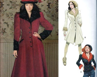 Victorian Coat Jacket Sewing Pattern Goth Steampunk Haunt Couture Arkivestry Costume  Multi Small Med Simplicity 1732 UNCUT FF Out of Print