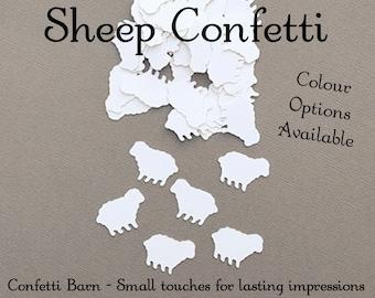 Sheep Confetti, Decorative Party Confetti, Baby Shower Confetti, Baptism Decor, Party Table Embellishments