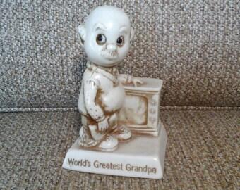 Berries World's Greatest Grandpa Figurine, 1975 R & W Berries Co's 793