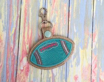 Football Keychain, Football Mom, Gift, Bag Tag, Christmas, Stocking Stuffer