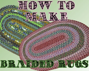 BRAIDED RUG for you to make. pdf pattern. Easy to follow. Simple Instructions.INSTANT download