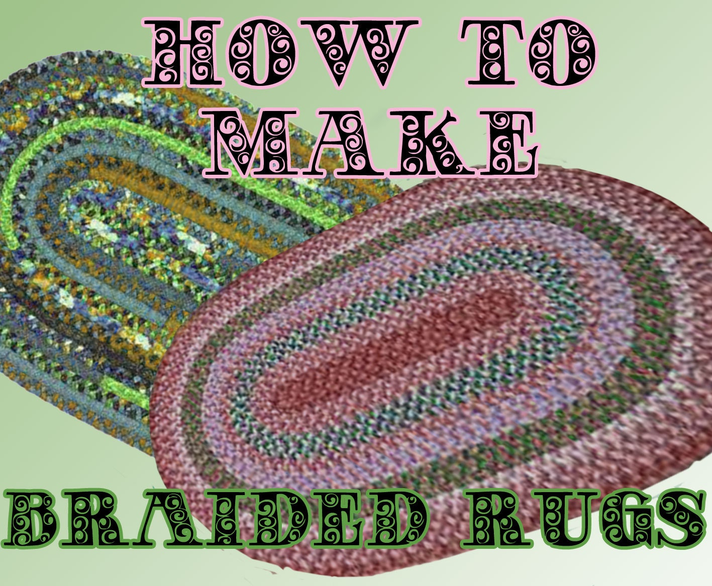BRAIDED RUG for you to make. pdf pattern. Easy to follow.