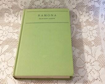 Vintage Book Ramona by Helen Hunt Jackson