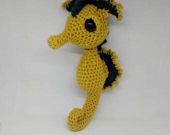 Handmade Crochet Seahorse
