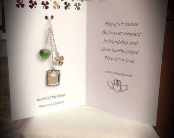 An Irish blessing wedding bouquet picture charm