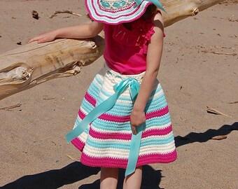 "Crochet Pattern: ""Sweet & Sassy"" Twirly Skirt, Newborn thru 10 years Permission to Sell Finished Items"