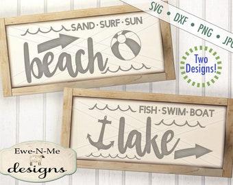 Beach SVG - Lake svg - lake house decor SVG - beach house decor svg -  summer svg - anchor svg - Commercial Use svg, dxf, png, jpg