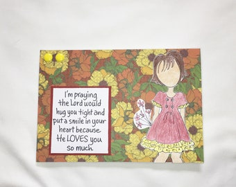 The Lord Loves You So Much Religious Card - Handmade Greeting Card - Friendship Card - Encouragement Card