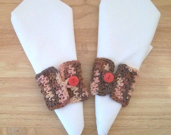 Napkin Rings - Buttoned Napkin Rings for Your Thanksgiving Table