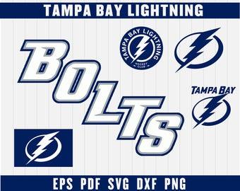 Tampa Bay Lightning Cut Files, SVG Files, Hockey Clipart, Cricut Tampa Bay Lightning Cutting Files, Hockey DXF, Instant Download