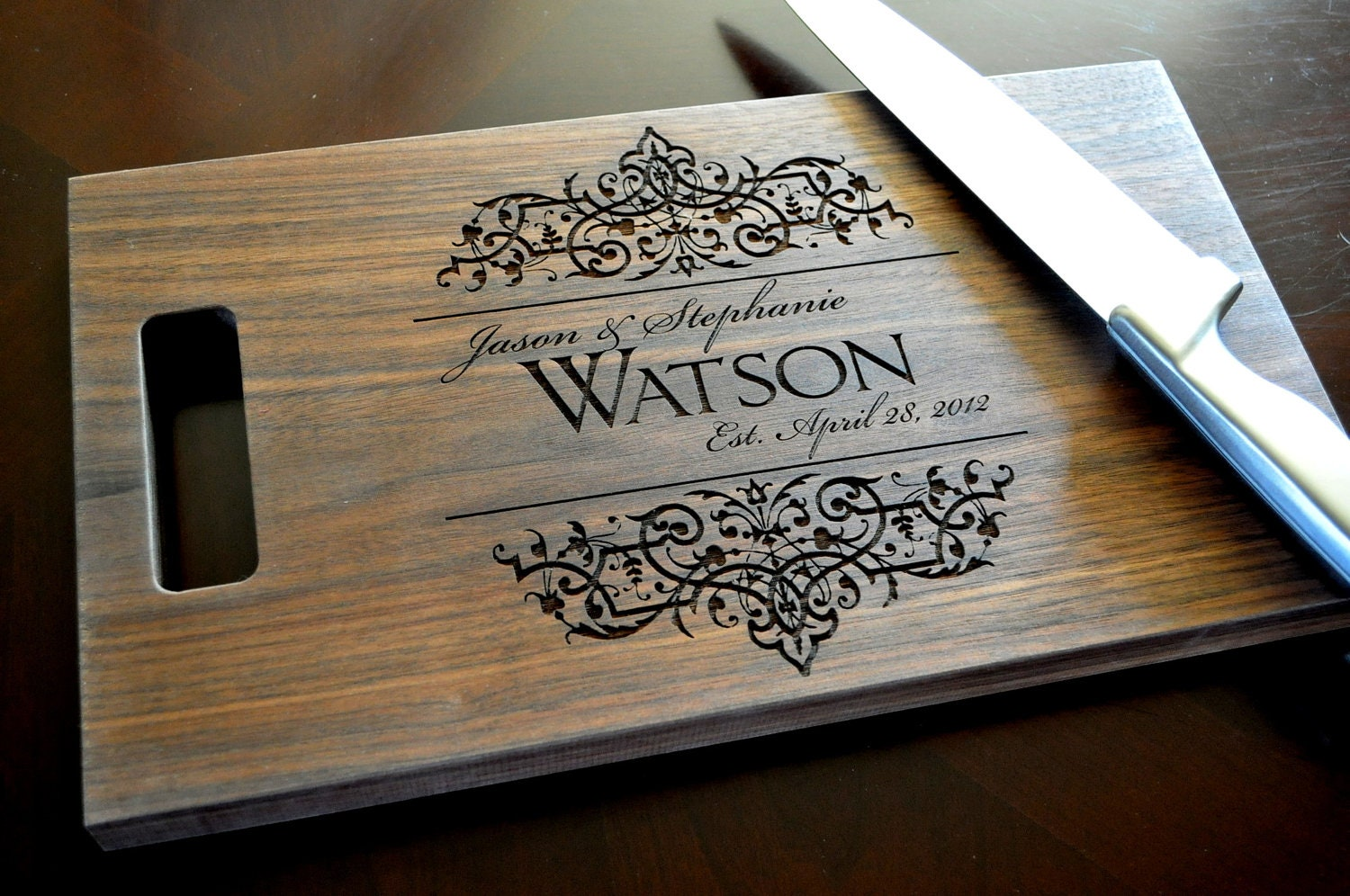 zoom Personalized Cutting Board Laser Engraved 8x14