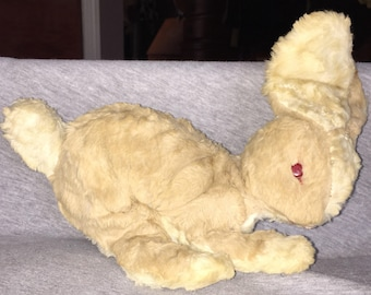 SALE Adorable 1950s Vintage Stuffed Bunny Rabbit Original Owner Sweet Well Loved Rabbit Plush Animal