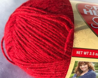 Worsted Weight Acrylic Yarn -- Shimmer by Red Heart