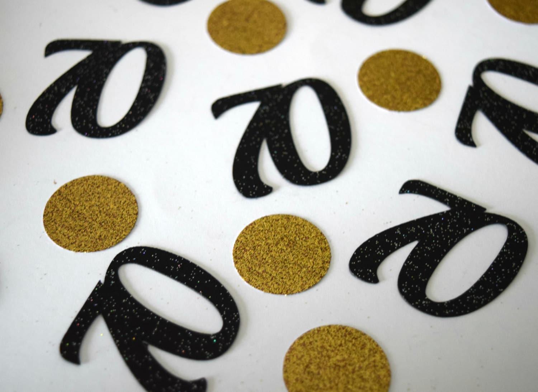 70th Birthday Party Decoration Gold Glitter 70 Table Confetti 70 Confetti Number Confetti 25 Count Seventieth Senior Birthday