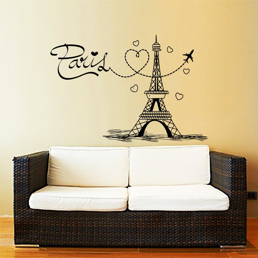 Funky Eiffel Tower Vinyl Wall Art Gallery - Wall Art Collections ...