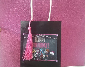 Small monster high lolly bags