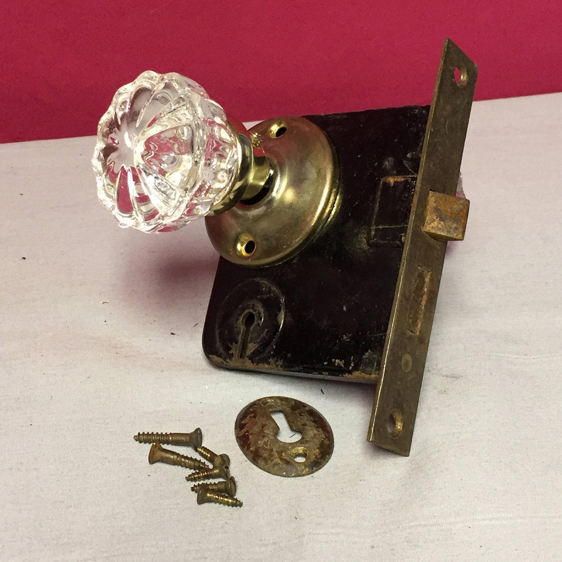 antique doorknob pin knobs door knob hardware decor round handle old glass house doors
