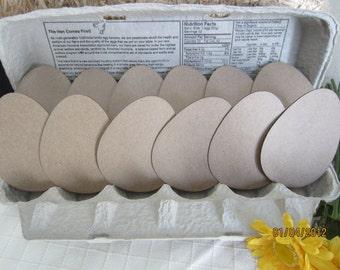Egg Chipboard Blanks - Shapes for Decorating-Easter Eggs Unfinished