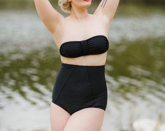 August Super High Waist Convertible Halter Top Bikini Swimsuit