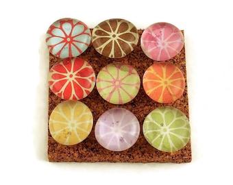 Set of 9 Decorative  Thumb Tacks Push Pins Cork Board Pins in Petals   (P50)
