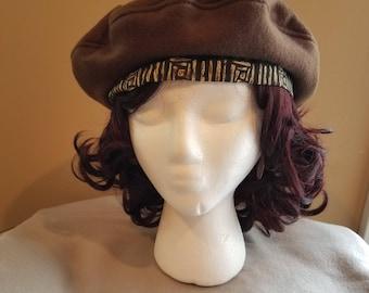 Brown Beret Tam Hat