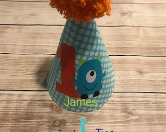 Little Monster Personalized Party Hat