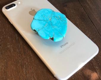 Turquoise Slab Phone Pop Grip
