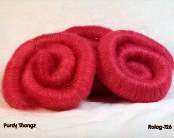 R-126 - Rolag - Cherry Red