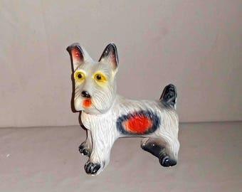 Vintage Chalkware Scottie Dog,Carnival Prize 1935-1945