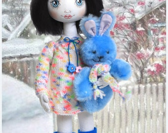 Cloth Doll Anastasya-Rag Doll-Interior Decor-Textile Doll-Fabric Doll