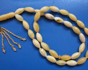 Genuine White Baltic Amber Prayer Beads 27 gr
