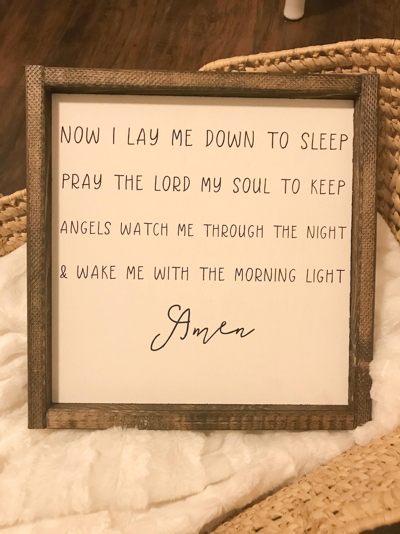 Now I Lay Me Down To Sleep Child Bedtime Prayer Nursery