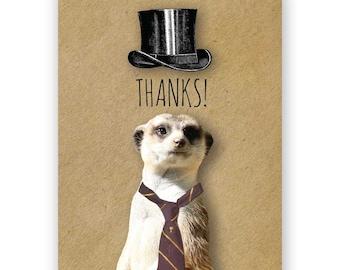Meerkat Thanks Card