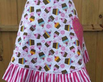 Cupcake Love - Women's Reversible Half Apron